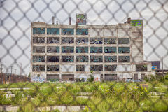 Fisher Body Works Factory With Fence Royalty Free Stock Image