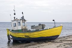 Fisher-Boot Lizenzfreie Stockfotos
