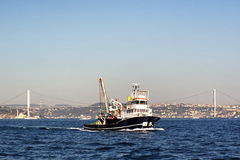 Fisher cutter. On Bosporus in Istanbul Royalty Free Stock Photo