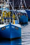 Fisher-cutter in a harbor in Jastarnia Poland Royalty Free Stock Photo