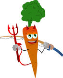 Fisher devil carrot Royalty Free Stock Images