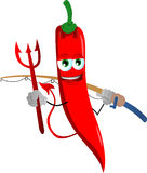 Fisher devil red hot chili pepper Royalty Free Stock Photo