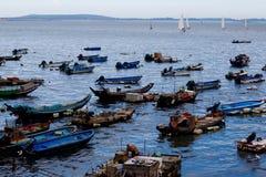 Fisher e navigazione Fotografia Stock Libera da Diritti