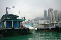 Fisher fartyg, Aberdeen, Hong Kong Fotografering för Bildbyråer