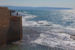 The fisher on fortification Stock Photography