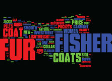 Fisher Fur Coats Text Background  Word Cloud Concept Stock Images