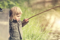 Fisher girl Stock Photography