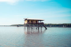 Fisher house. In the sea at thailand Royalty Free Stock Images