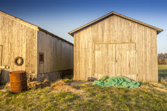 Fisher houses at the sea Royalty Free Stock Photography