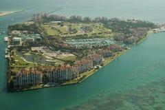 Fisher-Insel in Miami Stockbild
