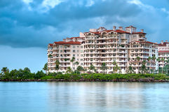 Fisher Island. View of apartments in Fisher Island, a very exclusive enclave in Miami Beach Stock Image