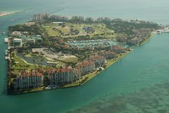 Fisher Island in Miami Stock Image