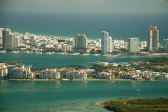 Fisher Island in Miami Stock Images