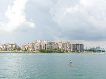 Fisher Island Buildings Royalty Free Stock Photos