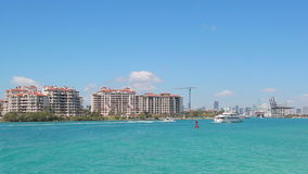 Fisher Island en Miami almacen de video