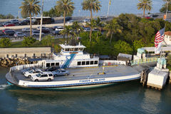Fisher Island ferry at Miami Beach Royalty Free Stock Image