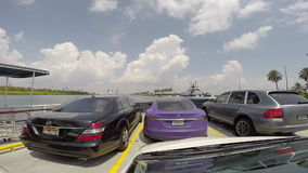 Fisher Island Ferry Miami Beach timelapse gopro Stock Photo