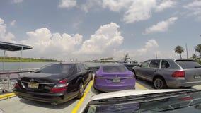 Fisher Island Ferry Miami Beach timelapse gopro Stock Photo