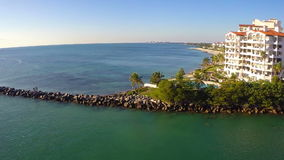 Fisher Island-Luftvideo 2 stock video