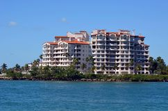 Fisher Island Luxury Condominiums stock fotografie