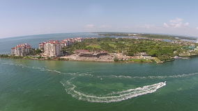 Fisher Island, Miami stock video