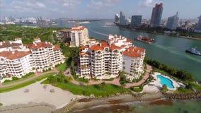 Fisher Island Miami-Antenne stock video