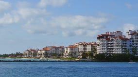 Fisher Island Miami Beach video d archivio