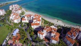 Fisher Island Miami Beach stock video