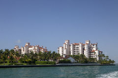 Fisher Island. Off the coast of Miami Beach Royalty Free Stock Photo