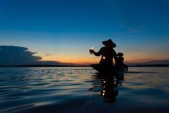 Fisher latarnik zdjęcie royalty free