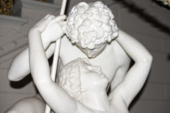 The fisher love and psyche statue style. Fisher love and psyche marble statue Royalty Free Stock Photos
