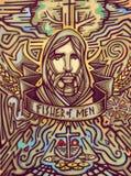 Fisher mężczyzna royalty ilustracja