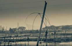 Fisher mężczyzna pracy chwyt ryba Fotografia Stock