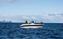 Fisher Man im Boot Lizenzfreies Stockbild