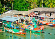 Fisher man life. The fisherman village Stock Image