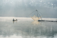 Fisher man . the tool of the fisher man, they using this one for thier job, in the foggy Royalty Free Stock Images