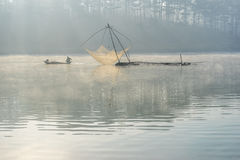 Fisher man . the tool of the fisher man, they using this one for thier job, in the foggy Stock Photos