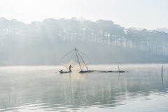 Fisher man . the tool of the fisher man, they using this one for thier job, in the foggy Royalty Free Stock Image
