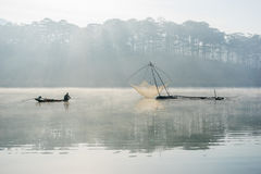 Fisher man . the tool of the fisher man, they using this one for thier job, in the foggy Royalty Free Stock Photography