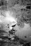 Fisher pojkestaty royaltyfri fotografi