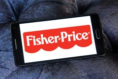 Fisher-Price toys manufacturer logo. Logo of Fisher-Price toys manufacturer on samsung mobile. Fisher-Price is an American company that produces educational toys royalty free stock photos