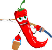Fisher red hot chili pepper Stock Photography