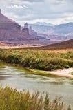Fisher se eleva, ruta escénica superior de Colorado cerca de Moab, Utah Fotografía de archivo libre de regalías