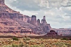 Fisher se eleva, ruta escénica superior de Colorado cerca de Moab, Utah Imagen de archivo libre de regalías