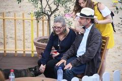 Fisher Stevens, Carrie Fisher et Gary photographie stock libre de droits