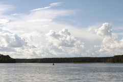 Fisher sur Biale, Pologne, ³ W, podlasie d'Augustà Images stock