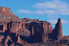 Fisher Towers - contrastes na cor imagens de stock royalty free