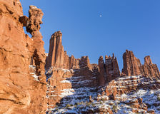 Fisher Towers Rock Fins and Rock Windows Royalty Free Stock Image