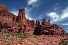 Fisher Towers Utah Royalty Free Stock Image
