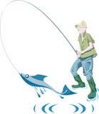 Fisher und Fische Lizenzfreie Stockfotos